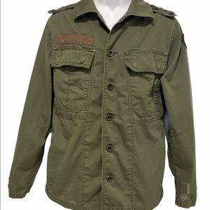 ❤️ Vintage G-Star Raw Olive Military Army Jacket L